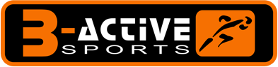 b active sport logo orange