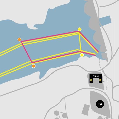 ultra swimroute map